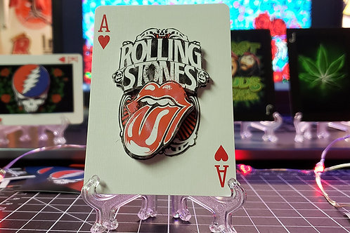 The Rolling Stones Tongue & Lips 3 - 3D Art Card
