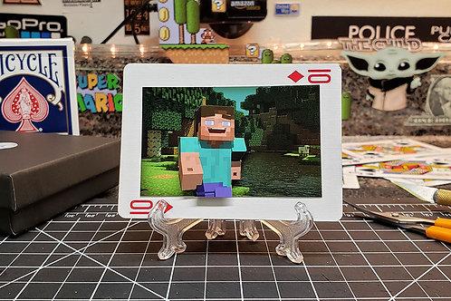 MINECRAFT Steve  - 3D Art Card