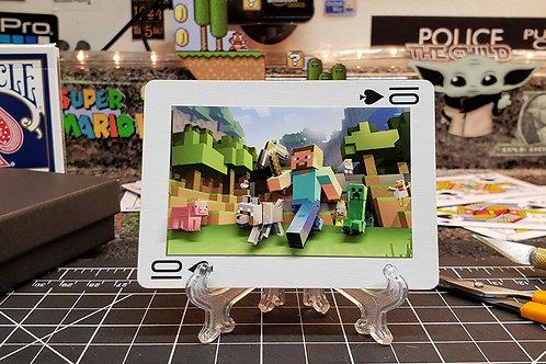 MINECRAFT Steve and Gang - 3D Art Card