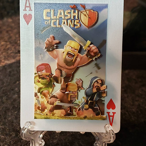 Clash of Clans BARBARIAN and crew - 3D Art Card