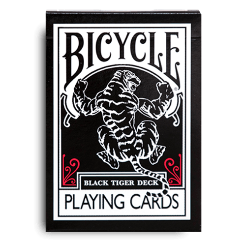 Black Tiger (RED PIPS) Bicycle Playing Cards by Ellusionist