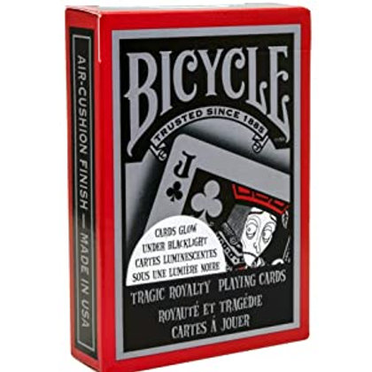 Tragic Royalty Bicycle Playing Cards- UV Reactive (Black Light)