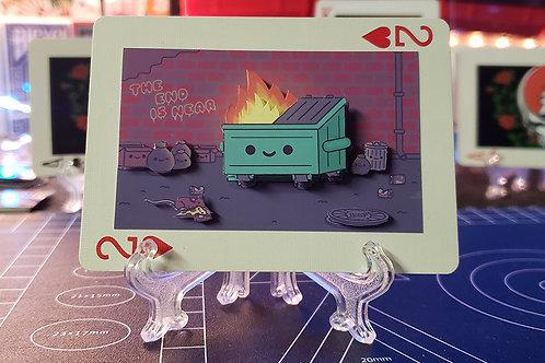 Grinning Dumpster Fire Meme - 3D Art Card