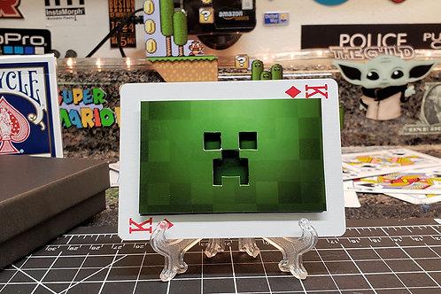 MINECRAFT Creeper  - 3D Art Card