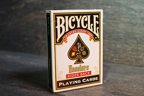 Hesslers Rider Back (Red) BICYCLE Playing Cards Deck