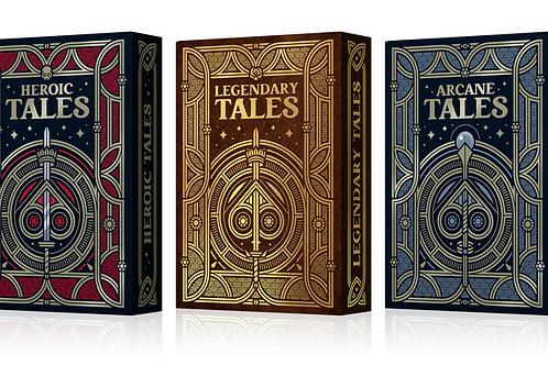 TALES (3 Deck Set) by TWI Playing Cards Kickstarter Deck
