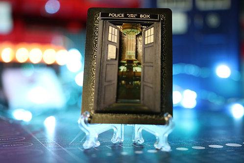 Doctor Who TARDIS -  3D Art Card