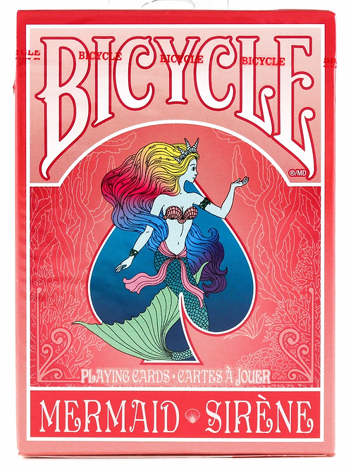 Mermaid (RED) Bicycle Playing Cards