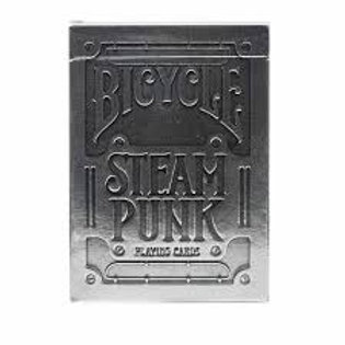Silver Steampunk Bicycle Playing Cards Deck by Theory 11