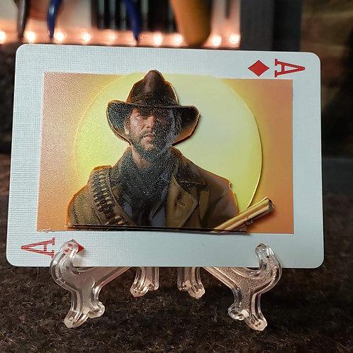 Arthur Morgan Sunrise Red Dead Redemption 2 - 3D Art Card