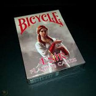 Bicycle AEsir Viking Gods Deck (Red) Playing Cards Deck