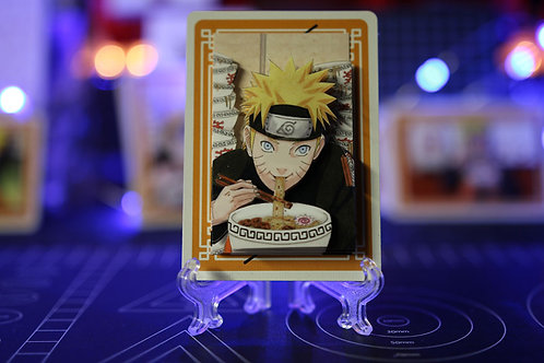 NARUTO Eating too much Ramen Limited Edition - 3D Art Card