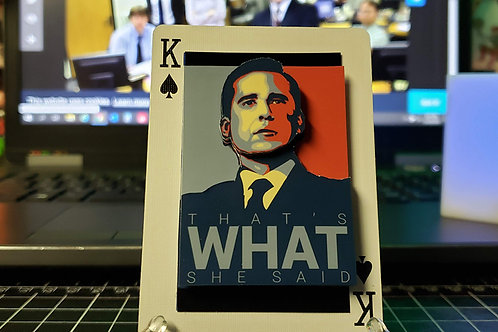 Michael Scott That's What She Said (HOPE) The Office - 3D Art Card