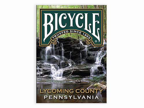 Lycoming County Pennsylvania BICYCLE Playing Cards Kickstarter Deck