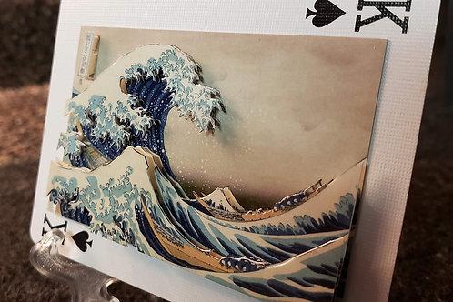 The Great Wave off Kanagawa - 3D Art Card