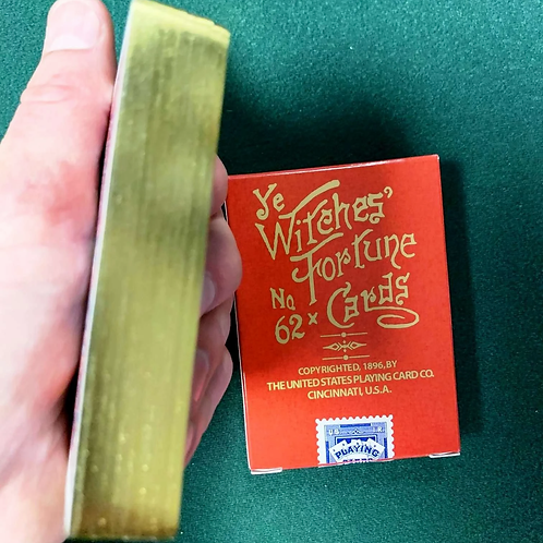 Red Ye Witches Fortune No 62 with Gold Gilded Playing Cards - Limited to 500