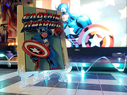 Captain America Playing Card MARVEL - 3D Art Card