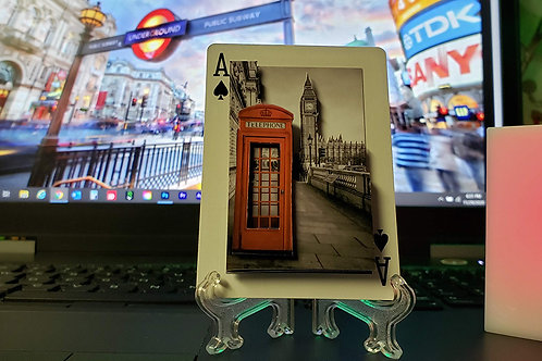 Red Phone Booth in London - 3D Art Card