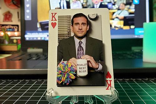 Michael Scott World's Best Boss The Office - 3D Art Card