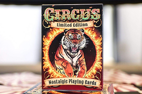 Circus Red Gilded Limited Edition Nostalgic Playing Cards - Limited to 400