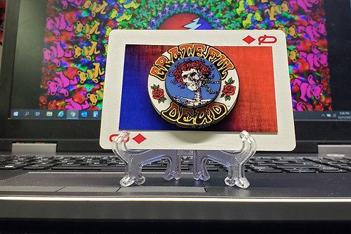 GRATEFUL DEAD Skull & Roses 1 - 3D Art Card