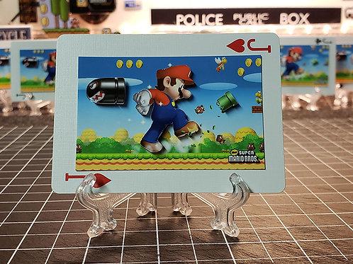 Super Mario Bros. Nintendo DS Gameplay - 3D Art Card