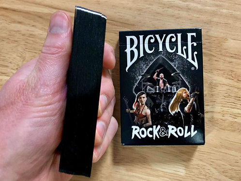 Rock & Roll Black Gilded Bicycle Playing Cards - Limited to 300