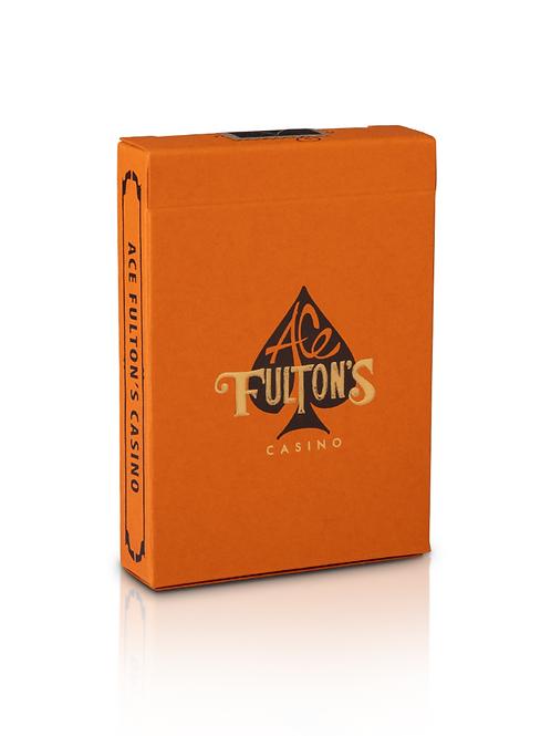 Ace Fulton's Casino, Vintage Back Orange Playing Cards