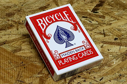 Maiden Back Bicycle (RED) Playing Cards