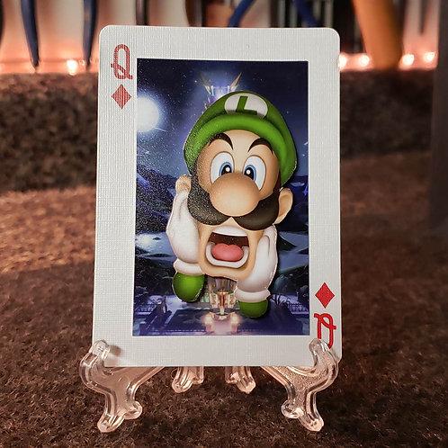 Super Mario Bros LUIGI's Mansion - 3D Art Card