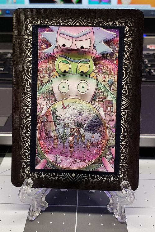 Rick and Morty Multiverse - 3D Art Card