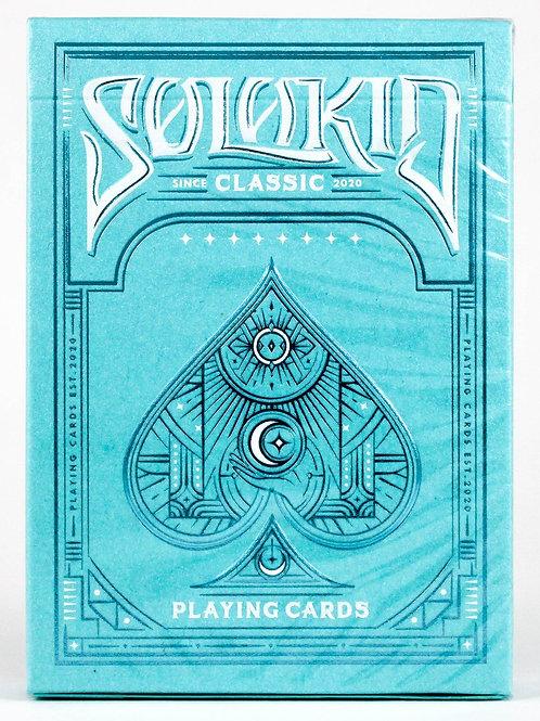Solokid Cyan Playing Cards