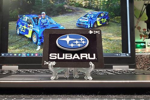 SUBARU logo - 3D Art Card