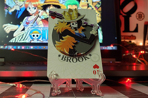 BROOK of One Piece 3D Art Card