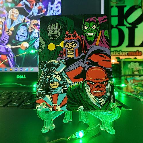 Marvel VILLIANS Playing Card - 3D Art Card