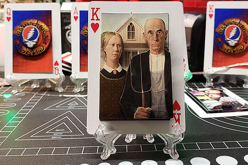 American Gothic Famous Painting - 3D Art Card