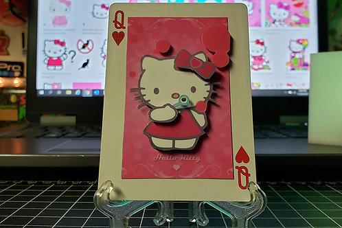 Hello Kitty Blowing Bubbles - 3D Art Card