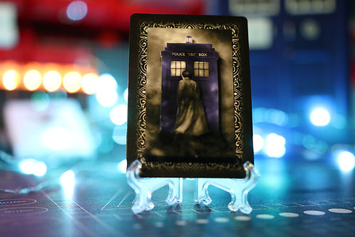 Doctor Who 10th Doctor and the TARDIS 3D Art Card