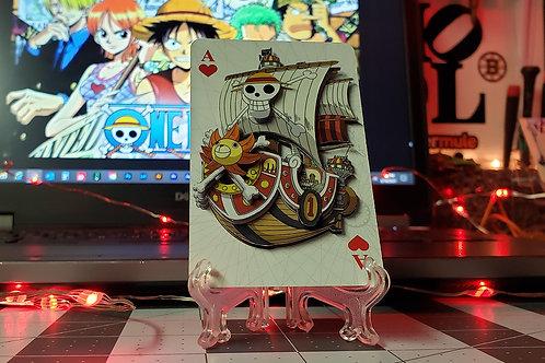 One Piece Thousand Sunny Ship 3D Art Card