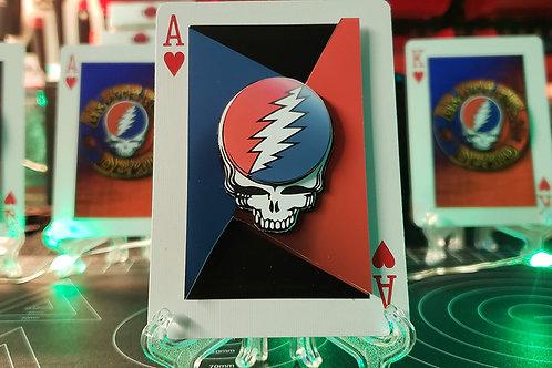 GRATEFUL DEAD Lightning Bolt Skull 2 - 3D Art Card