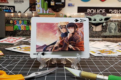 Naruto Uzumaki and Hinata Hyuga of NARUTO - 3D Art Card