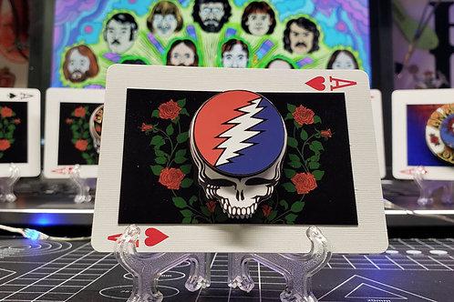 GRATEFUL DEAD Steal Your Face Lightning Bolt Skull - 3D Art Card