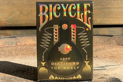 Distilled TOP SHELF Bicycle Playing Cards Kickstarter Deck
