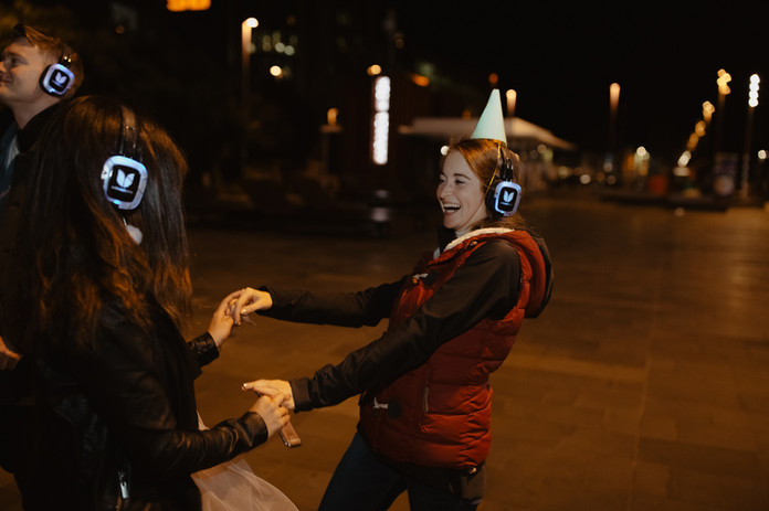 fun times in Auckland with silent disco