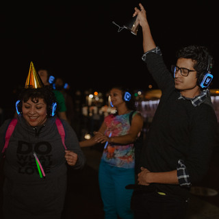 Birthday idea silent disco citywalk