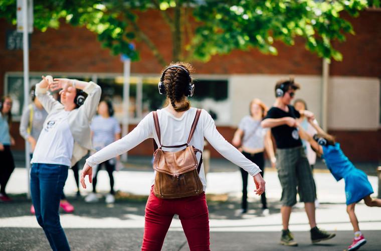 Silent Disco Citywalk Arts Festival