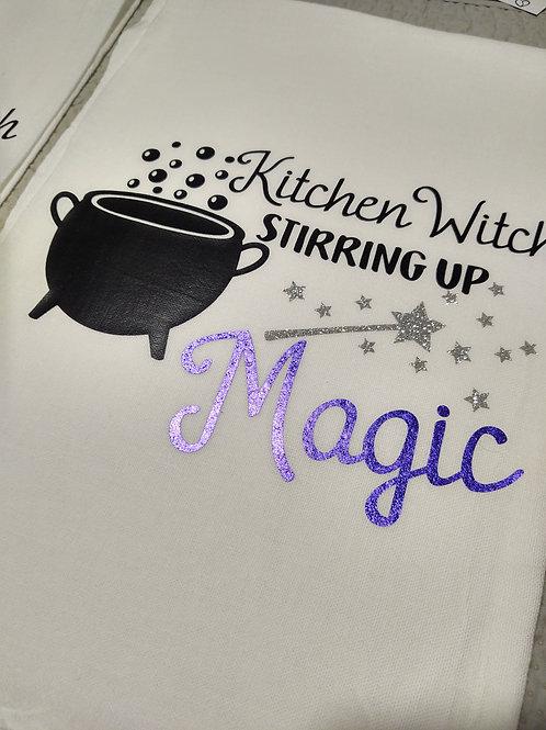Kitchen Witch Magic Dish towel
