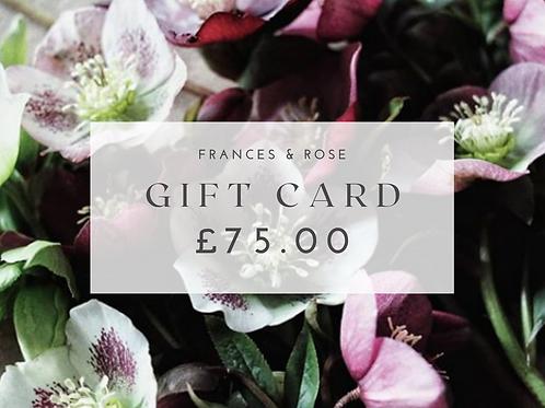 £75.00 Gift Card