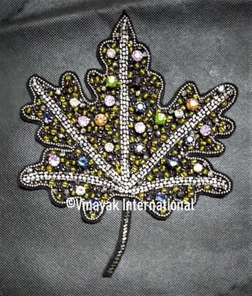 Maple Leaf with crystals