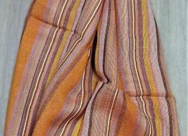 Look of orange scarf/stole